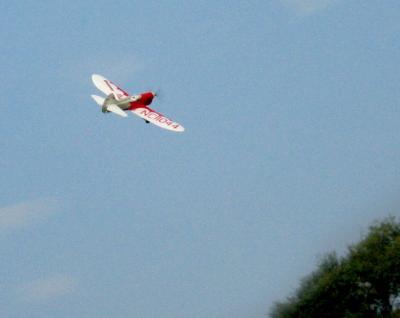 Gee Bee Sportster flyby